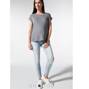 Blanqi Maternity Belly Support Skinny Jeans Light